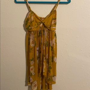 Free people yellow floral tunic size S